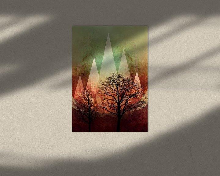 Sfeerimpressie: TREES under MAGIC MOUNTAINS I-A van Pia Schneider