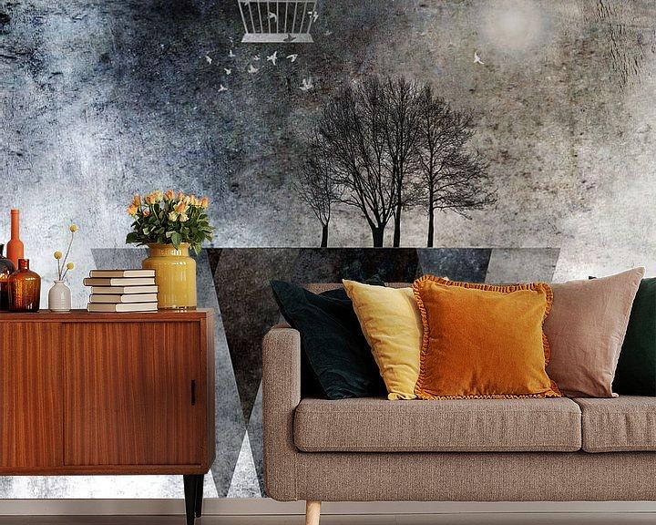 Beispiel fototapete: TREES over MAGIC MOUNTAINS I von Pia Schneider