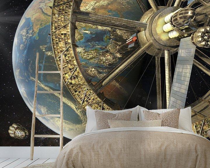 Sfeerimpressie behang: De ruimtelift van Sulawesi van Frans Blok