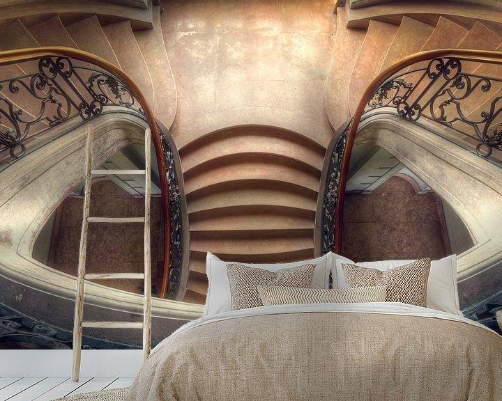 Beispiel fototapete: Eleganz – wunderschönes Treppenhaus in einem Schloss von Roman Robroek