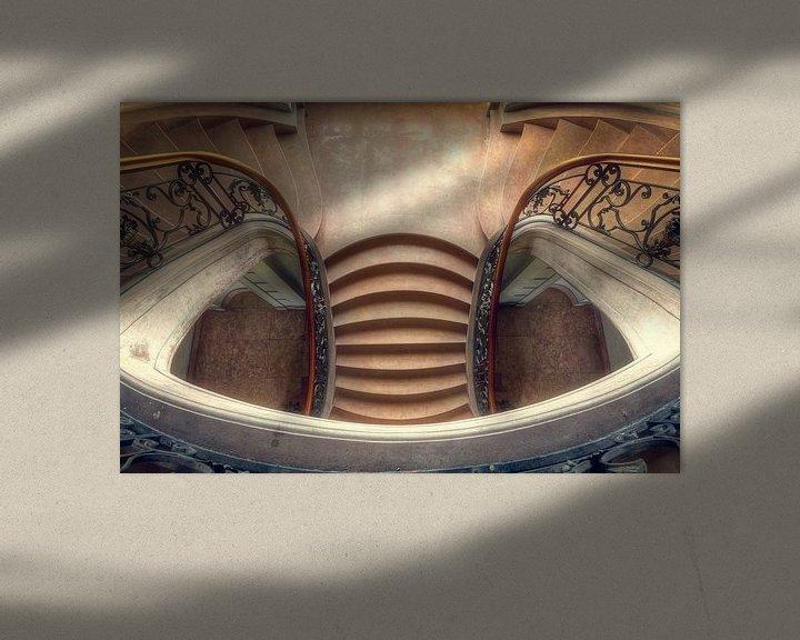 Beispiel: Eleganz – wunderschönes Treppenhaus in einem Schloss von Roman Robroek