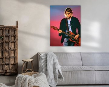 Kurt Cobain schilderij van Paul Meijering