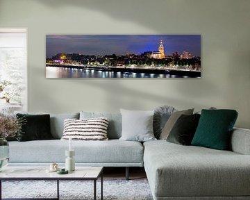 Panorama de nuit Nijmegen