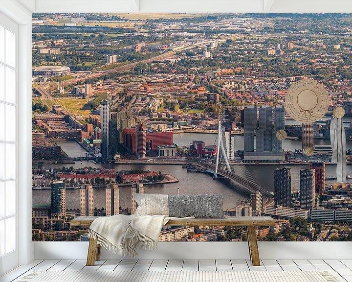 Sfeerimpressie behang: Rotterdam op Zuid van Dennis Vervoorn
