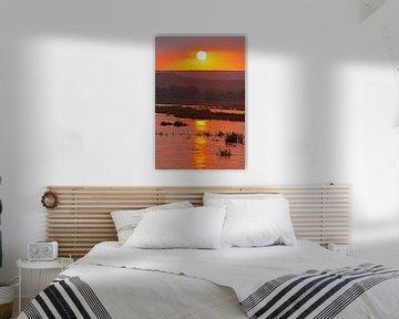 Sunrise in Africa van W. Woyke