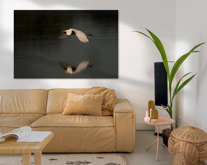 Sfeerimpressie: witte reiger van Rando Kromkamp