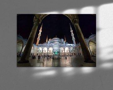 De blauwe moskee in Istanbul van Roy Poots