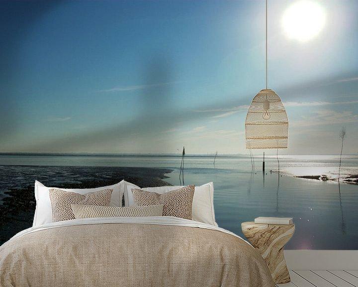 Sfeerimpressie behang: Haveningang in de Waddenzee van Norbert Sülzner