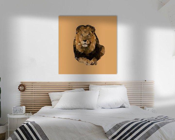 Sfeerimpressie: Big Five Safari: Leeuw van Low Poly