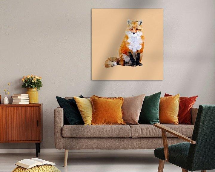 Sfeerimpressie: Wild uit het bos: de rode vos van Low Poly