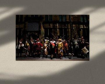 Nachtwacht van Rembrandt von PAM fotostudio