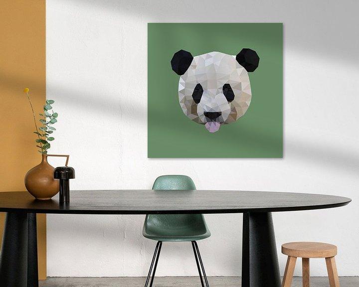 Sfeerimpressie: Panda van Low Poly