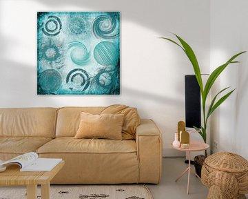 Variaties op een cirkel, turquoise