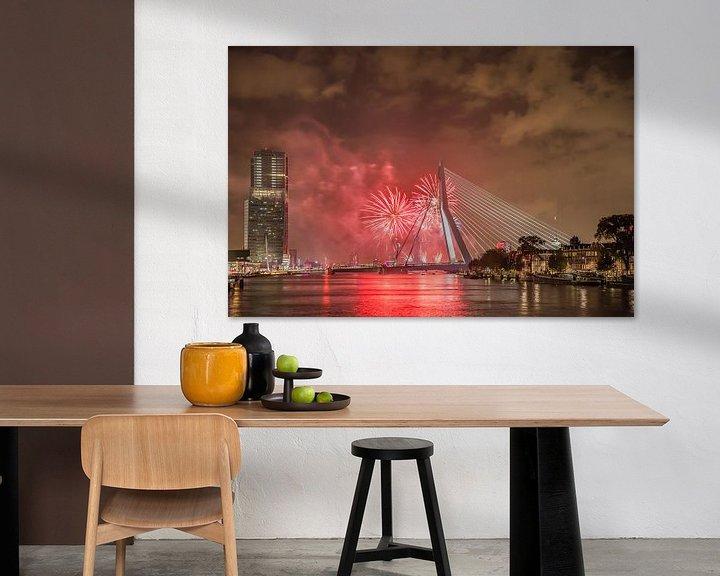 Sfeerimpressie: Rotterdam Erasmusbrug WHD 2015 #4 van John Ouwens
