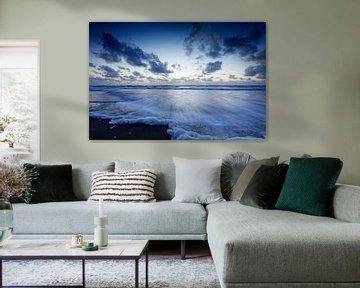 typisch Hollandse wolkenlucht boven de Noordzee sur gaps photography