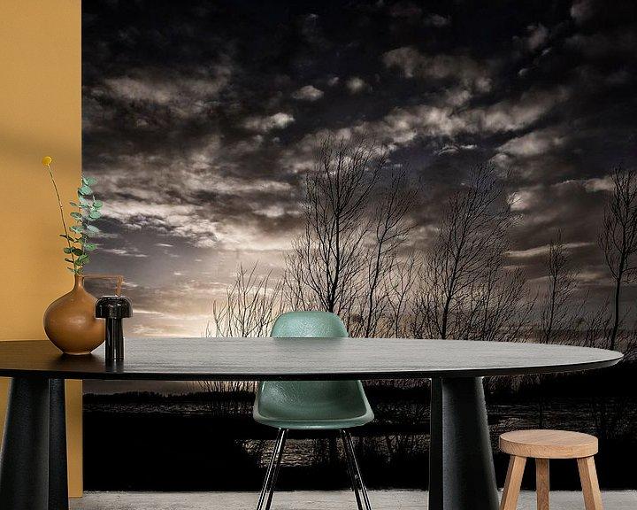 Impression: Donkere wolken bij zonsondergang sur Rouzbeh Tahmassian