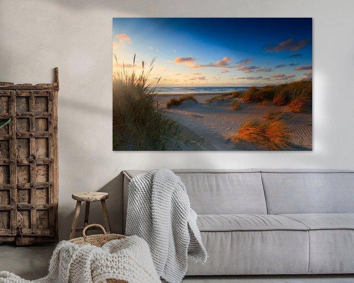Sfeerimpressie: zonsondergang achter de Hollandse duinen van gaps photography