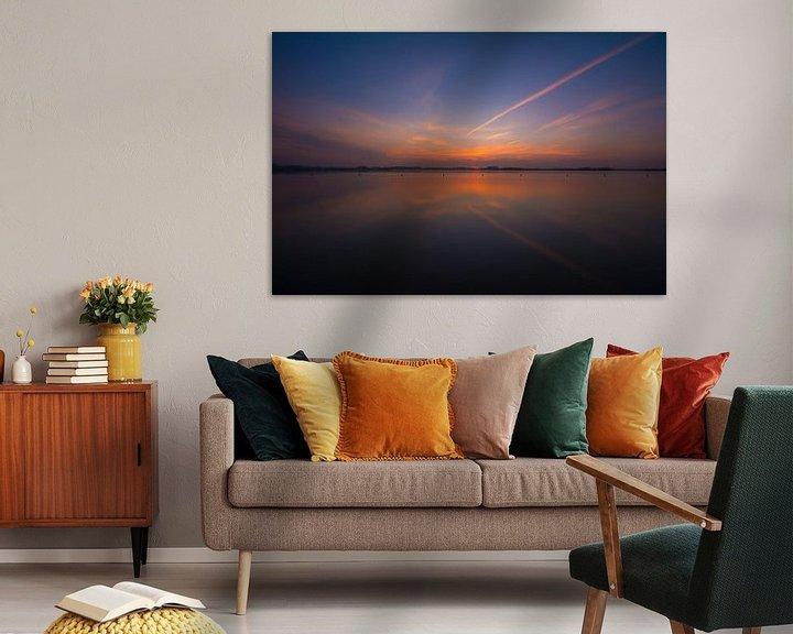 Beispiel: Uitzicht strand met zonsondergang von Rouzbeh Tahmassian