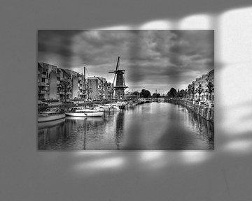 Historisch Delfshaven in zwart-wit (HDR)