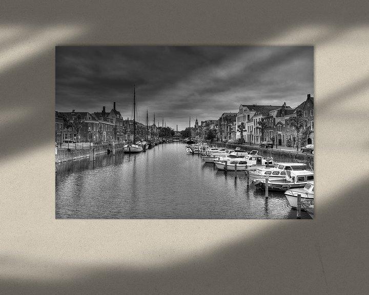 Sfeerimpressie: Historisch Delfshaven in zwart-wit (HDR) 2 van Rouzbeh Tahmassian
