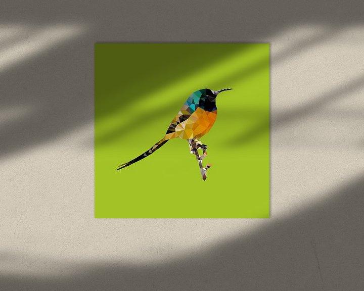 Sfeerimpressie: Vogel van Low Poly