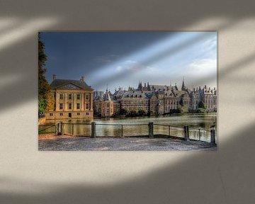 Hofvijver Binnenhof Den Haag van Watze D. de Haan