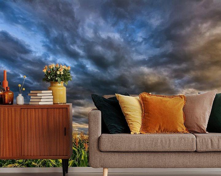 Sfeerimpressie behang: Corn And Clouds van Bram Visser