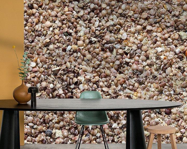 Beispiel fototapete: Muscheln am Strand von Levent Weber