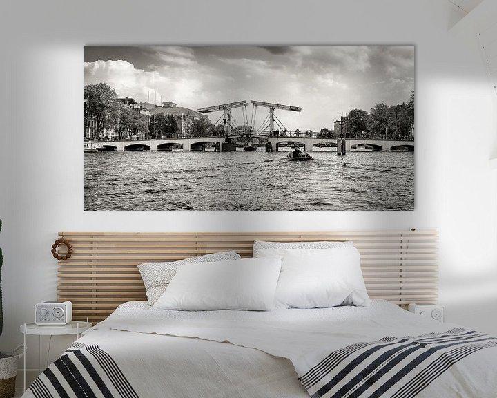 """Sfeerimpressie: """"Een brug, dan kun je heen en terug.. """" ( De Magere Brug in Amsterdam )  van Hans Brinkel"""
