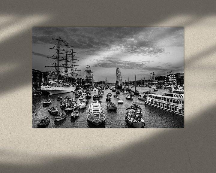 Sfeerimpressie: Sail Amsterdam 2015 in Zwart/wit van Ton de Koning