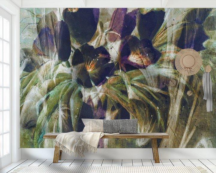 Sfeerimpressie behang: zwarte tulpen - samenvatting van Christine Nöhmeier