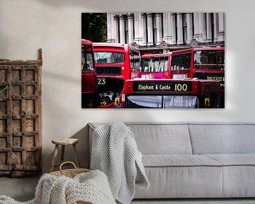 Rode bussen in Londen