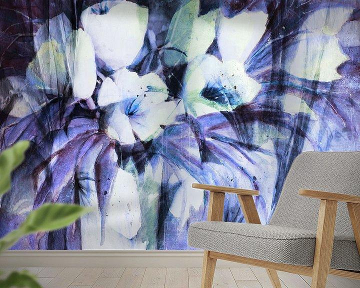 Sfeerimpressie behang: witte Tulpen - samenvatting van Christine Nöhmeier