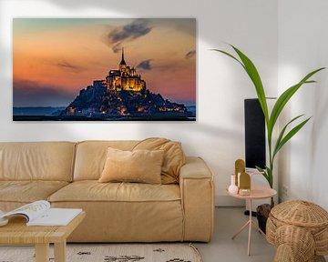 Bedevaartsoord Mont Saint Michel sur Roy Poots