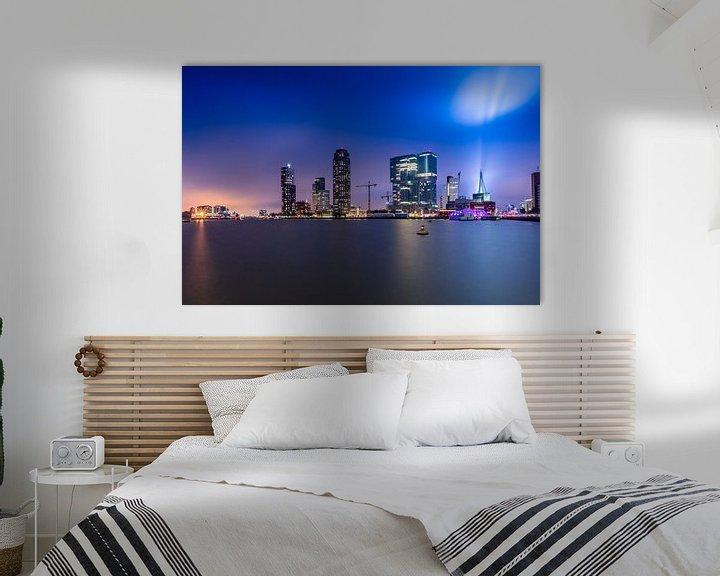 Sfeerimpressie: Skyline Rotterdam Rijnhaven view van Michael van der Burg