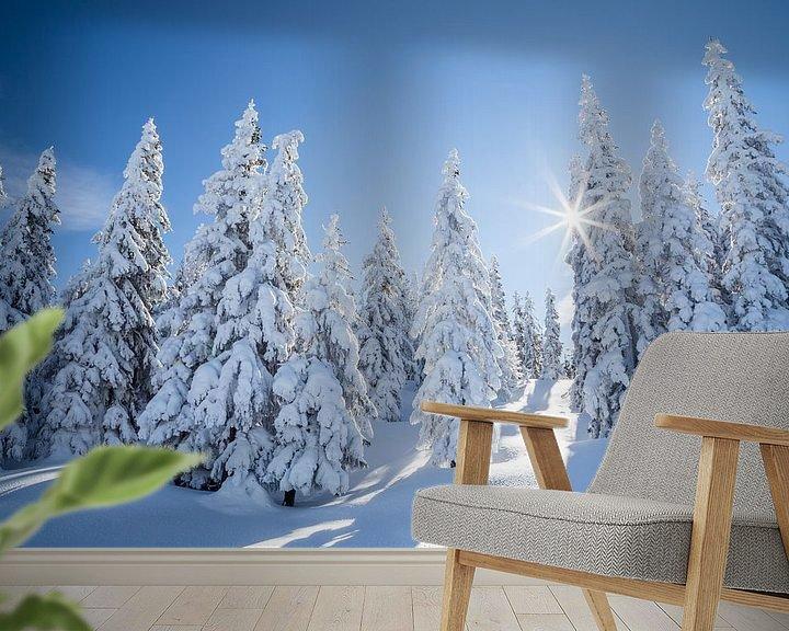 """Sfeerimpressie behang: Winterlandschap """"Winter Wonderland """" van Coen Weesjes"""