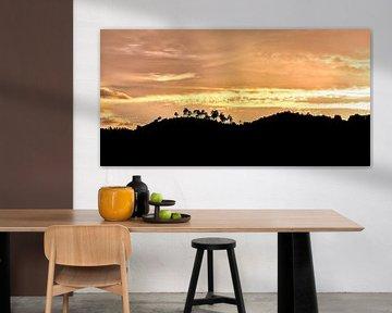 Zonsondergang in La Garde-Freinet, Zuid Frankrijk van Anouschka Hendriks