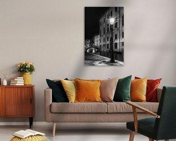 VENICE Rio di San Vio & Palazzo Cini | Monochrome van Melanie Viola