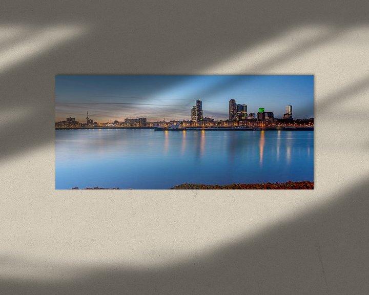Sfeerimpressie: Maashaven Rotterdam panorama van Ilya Korzelius