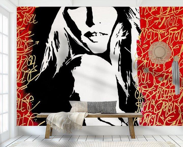 Sfeerimpressie behang: Top Beauty van Mouse and House