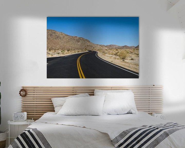 Sfeerimpressie: Weg door de woestijn van Sander Meijering