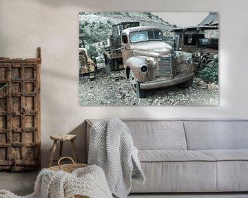 Oude afgedankte vrachtwagen van Sander Meijering