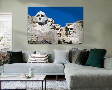 Mount Rushmore met vier presidenten in de rots van Sander Meijering
