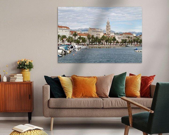 Sfeerimpressie: Skyline van Split in Kroatië van Sander Meijering