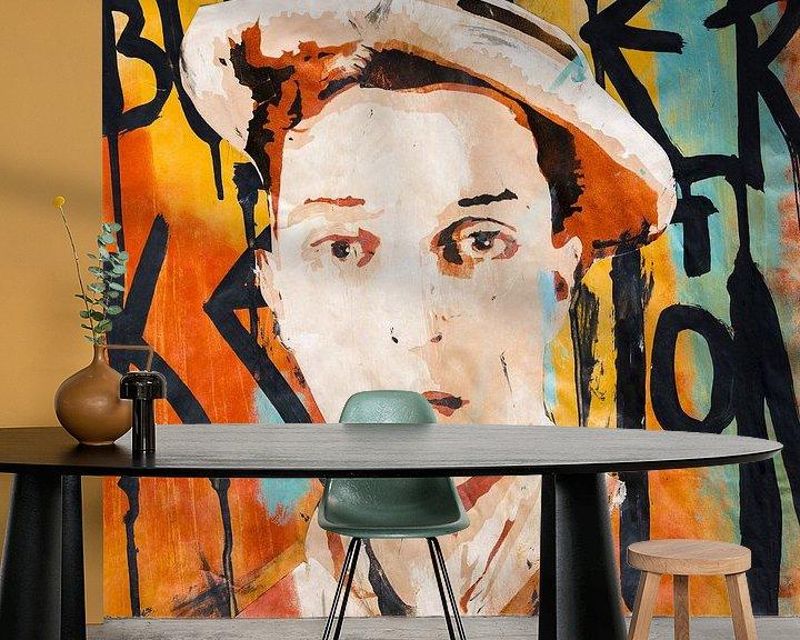 Sfeerimpressie behang: Buster Keaton van Mouse and House