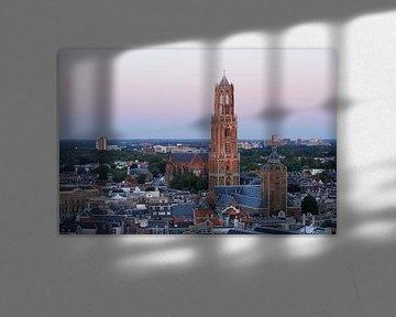 Stadsgezicht van Utrecht met de Domtoren  von Merijn van der Vliet