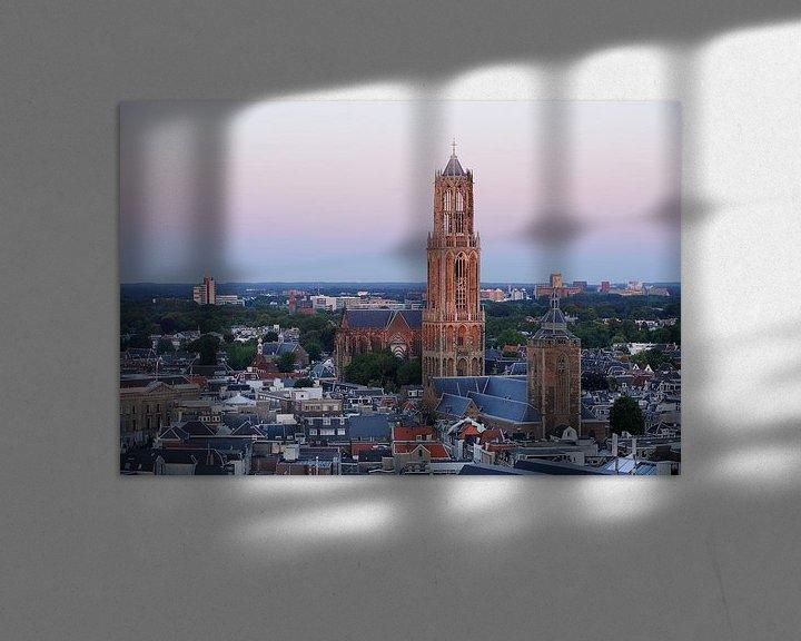 Sfeerimpressie: Stadsgezicht van Utrecht met de Domtoren  van Merijn van der Vliet