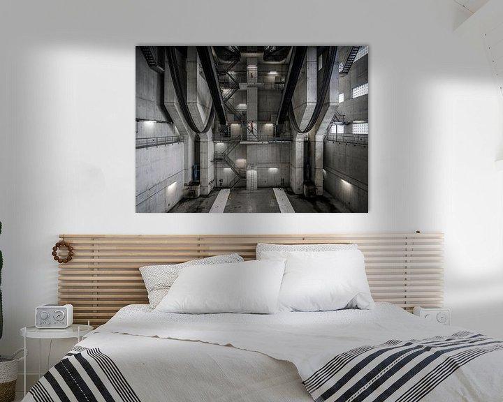 Sfeerimpressie: Binnenin de Van Brienenoordbrug van Jeroen van Dam
