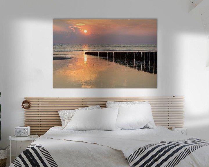 Sfeerimpressie: Sunset Wad.. van Miranda van Hulst