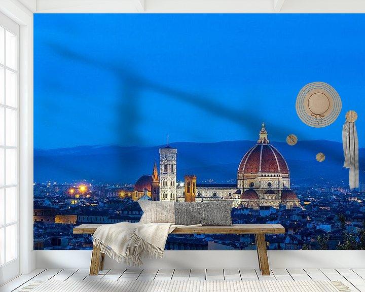 Sfeerimpressie behang: Florence Il Duomo  van Jelmer van Koert